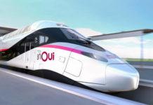 Un train Ouigo d'Alstom produit pour la SNCF