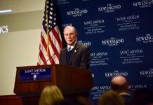 Michael Bloomberg lors d'un déplacement dans le New Hampshire en janvier 2019.
