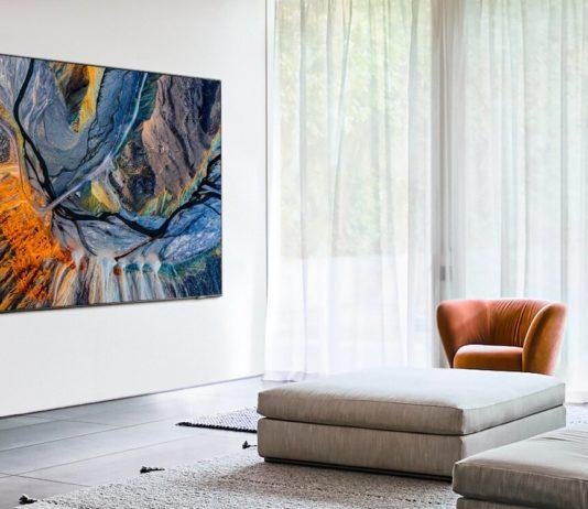 Un téléviseur OLED de Samsung dans un mur (image Samsung).
