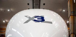 Le fuselage d'un Airbus A300-600ST (Super Transporter) ou Beluga.