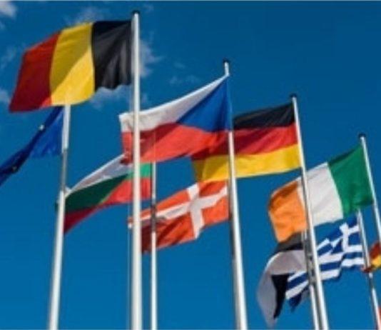 Les drapeaux des pays de la Zone Euro.